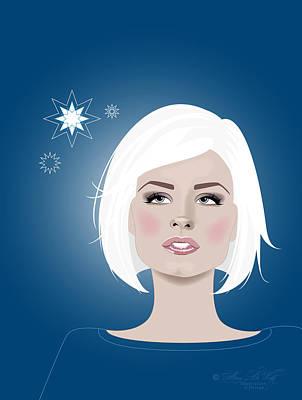 Women Digital Art - Snow Flakes by Amy De Wolfe