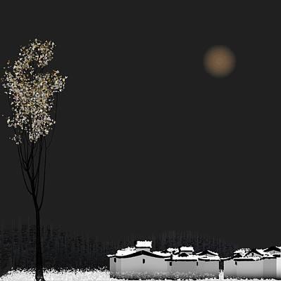 Snow Print by GuoJun Pan