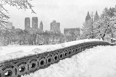 New York City Photograph - Snow In Central Park Nyc by Susan Candelario