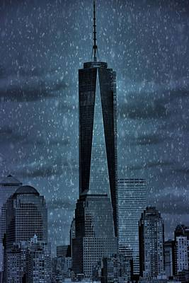 Skyscraper Mixed Media - Snow In New York City by Dan Sproul