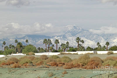 California Photograph - Snow In The Desert by Deborah Smolinske