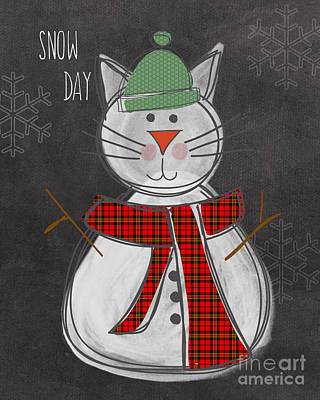 Snow Kitten Print by Linda Woods