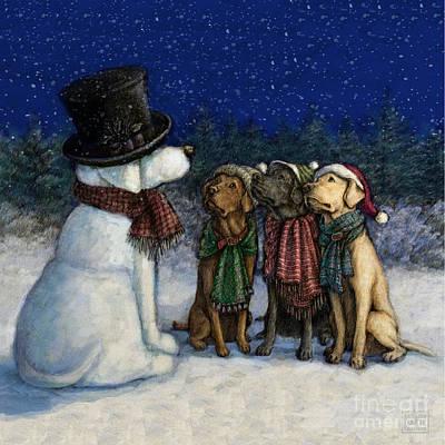 Snow Lab Print by Kathleen Harte Gilsenan