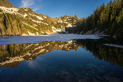 Snow Lake Beauty And Beneath Print by Mike Reid