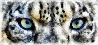 Leopard Photograph - Snow Leopard Eyes by Angelina Vick