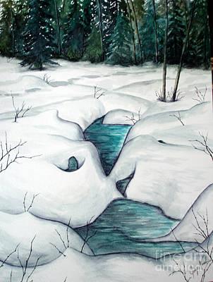 Snowed Trees Mixed Media - Snow Melt by Joey Nash