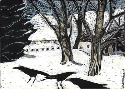 Drawing - Snow Noise by Grace Keown