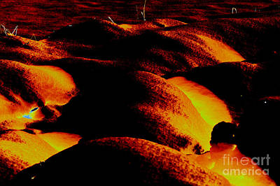 Abstract Forms Digital Art - Snow On Fire by Carol Lynch