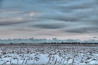 Farm Scene Photograph - Snow On The Fields by Heather Allen
