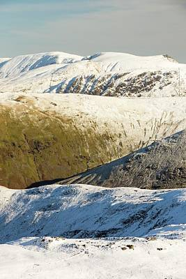 Snow On The High Street Fells Print by Ashley Cooper