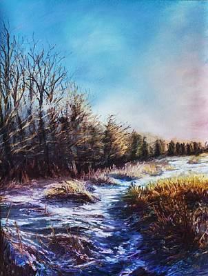 Snow Melt Pastel - Snow Path by Bob Northway