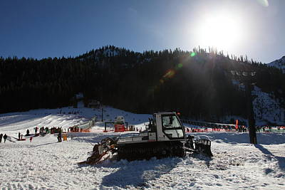 Snowmobile Photograph - Snow Plow At Squaw Valley Usa 5d27651 by Wingsdomain Art and Photography