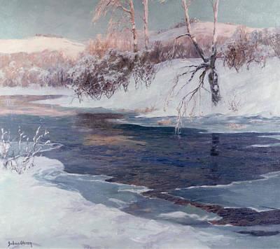 Snowy Trees Painting - Snow Scene by Albert Julius Olsson