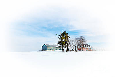 Quebec Houses Photograph - Snow Scene  by Jane Rix