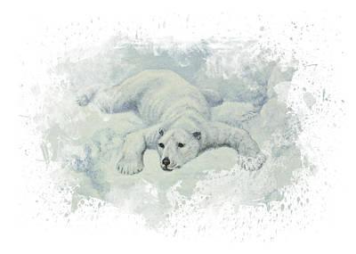Bear Digital Art - Snow Storm by Aged Pixel