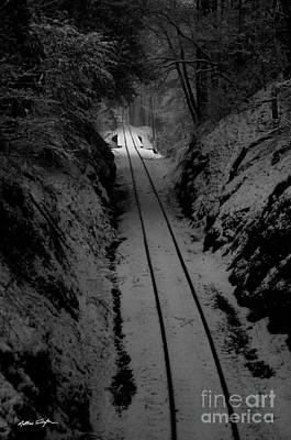Snow Tracks - 2010 Print by Matthew Turlington