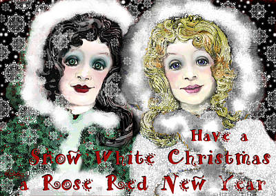 Snow White Christmas Print by Carol Jacobs