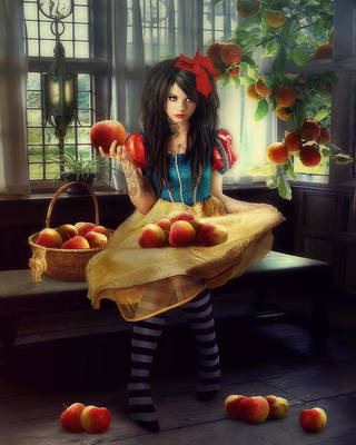 Snow White Print by Cindy Grundsten