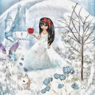 Ice-t Mixed Media - Snow White by Mo T