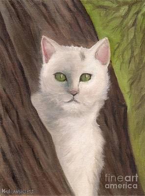Snow White The Cat Print by Kostas Koutsoukanidis