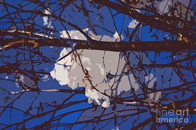 Abstract Forms Digital Art - Snowball by Carol Lynch