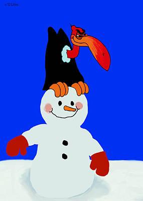 Buzzard Mixed Media - Snowbird by David Wiles