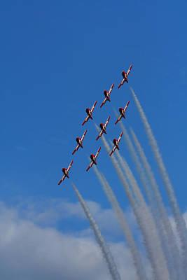High Altitude Flying Photograph - Snowbirds Performing by Matt Dobson