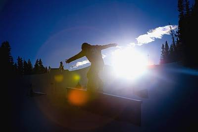 Adventuresome Photograph - Snowboarder by Tes Lalonde