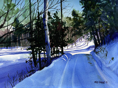Shadows Painting - Snowbound by Kris Parins