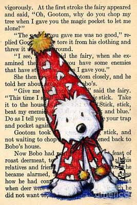 Snowbunny Westie Original by Kim Niles