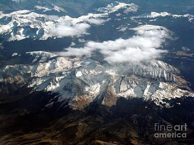 Snowcapped Mountains Print by Eva Kato