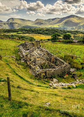 Abandoned Digital Art - Snowdon Ruin by Adrian Evans