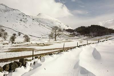 Drifting Snow Photograph - Snowdrifts Below Helvellyn by Ashley Cooper