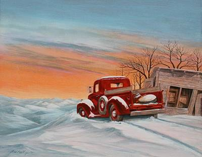Painting - Snowed-in 2 by J W Kelly