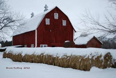 Barn Painting - Snowed In Barn by Bruce Nutting