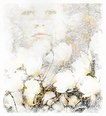 Face Digital Art - Snowfairy by Gun Legler