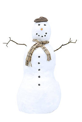 Snowman Print by Amanda Elwell