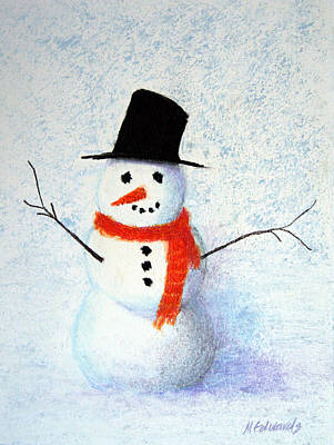 Snowman Original by Marna Edwards Flavell