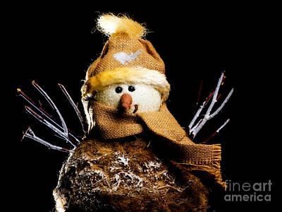 Snowman Print by Sinisa Botas