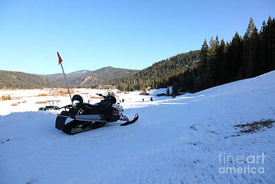 Snowmobile Photograph - Snowmobile At Squaw Valley Usa 5d27636 by Wingsdomain Art and Photography