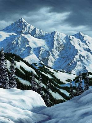 Snowscape Painting - Snowpack by Rick Bainbridge