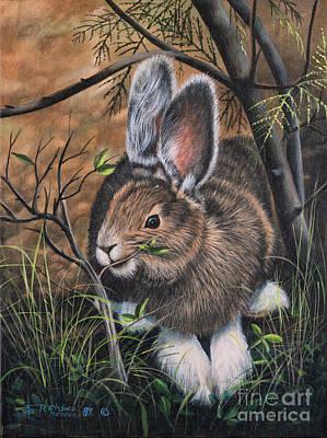 Lent Painting - Snowshoe Rabbit by Ricardo Chavez-Mendez