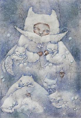 Snowy And Tender Print by Anna Petrova