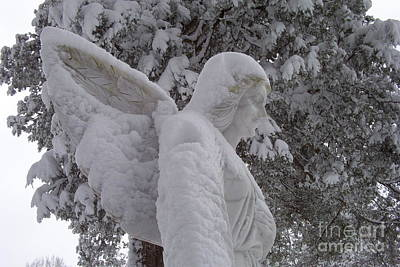 Snowy Angel Print by Kevin Croitz