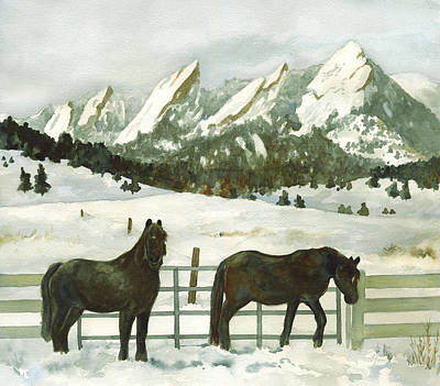 Winter Scenes Painting - Snowy Day by Anne Gifford