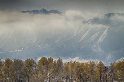 Winter Photograph - Snowy Flatiron View Boulder Colorado by James BO  Insogna