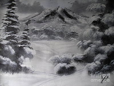 Snow Painting - Snowy Forest by Collin A Clarke