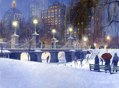 Hancock Building Painting - Snowy Garden by Candace Lovely