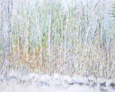 Wilderness Painting - Snowy Landscape In New Hampshire by Glenda Crigger