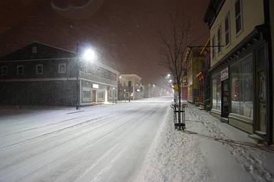 Snowy Night Photograph - Snowy Night by Alan Chandler